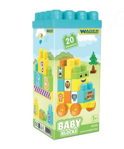 Kostky baby blocks  Wader, 20 dílků