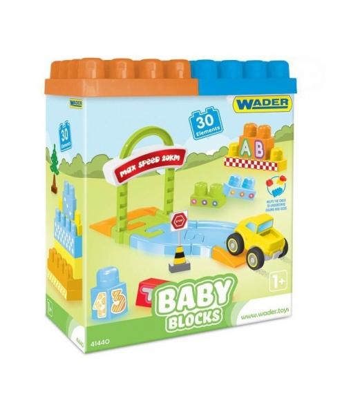 Kostky baby blocks  Wader, 30 dílků