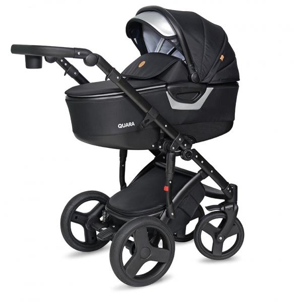 Kočárek Coto Baby 2 v 1 QUARA Eco - černý