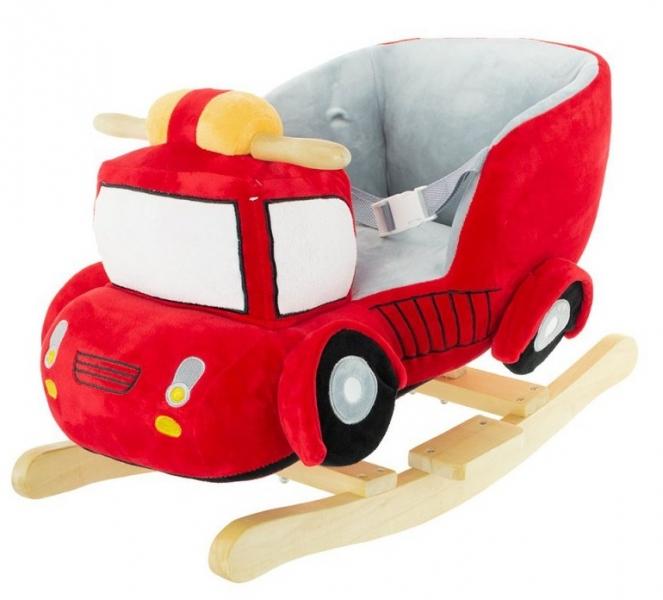 Euro Baby Houpací Požární auto s melodii - červená