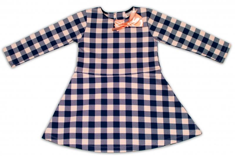 K-Baby Dětské šatičky Kárko - granát/sv. růžová, vel. 98, Velikost: 98 (24-36m)