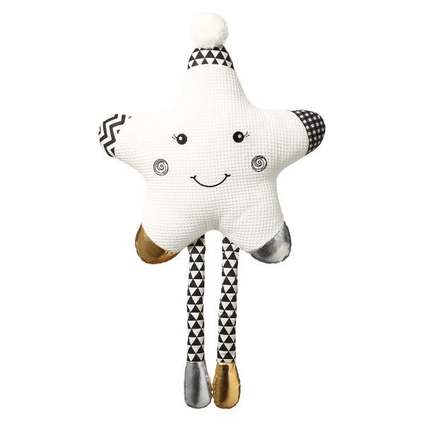 BabyOno Plyšová hračka Smiling Star - bílá