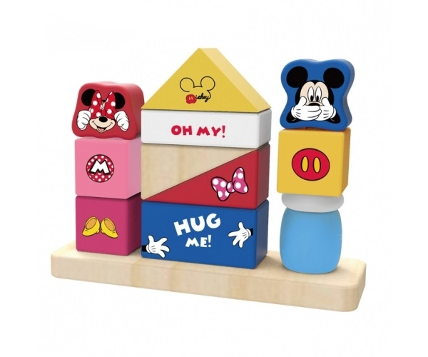 Dřevěné kostky Disney s veselými motivy - Mickey Mouse