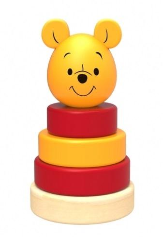 Dřevěná pyramida Disney skládačka - Medvídek Pú
