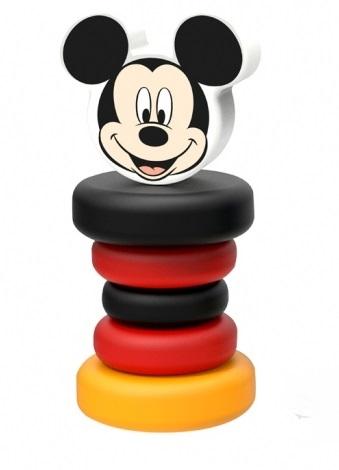 Dřevěné chrastítko Disney, Mickey Mouse, 5 x 5 x 12 cm