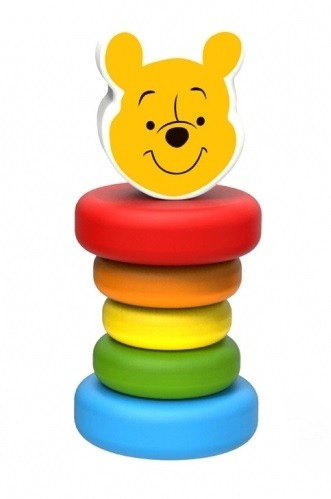 Dřevěné chrastítko Disney, Medvídek Pú, 5 x 5 x 12 cm