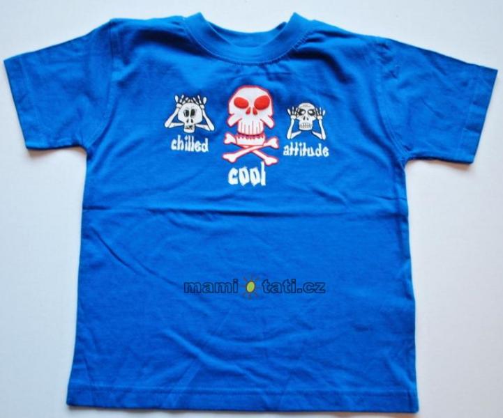 Bavlněné tričko pro kluky - Lebky