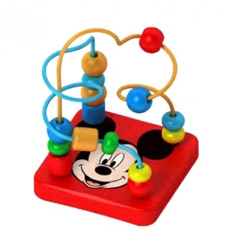 Dřevěný interaktivní Disney labyrint, Mickey - 9 x 12 cm
