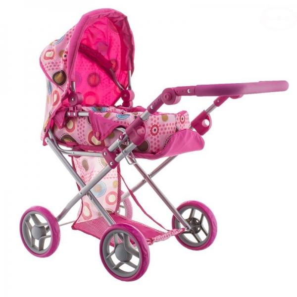 Euro Baby Kombinovaný kočárek pro panenky - Barevné kroužky