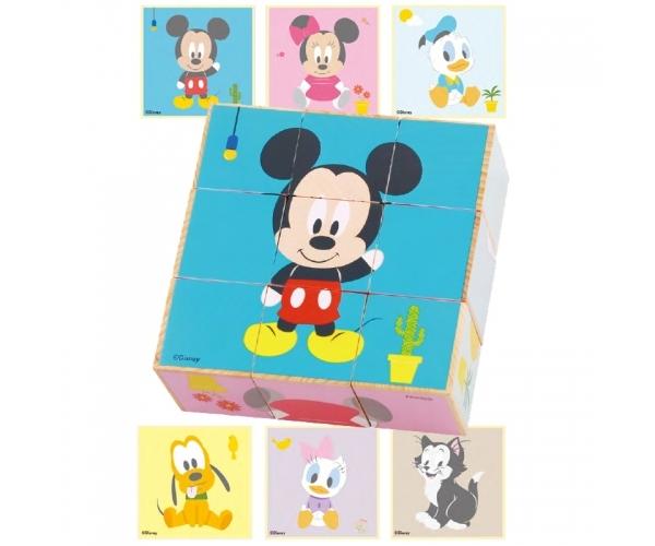 Dřevěné obrázkové kostky Disney, Mickey a přátelé, 23 x 20 cm