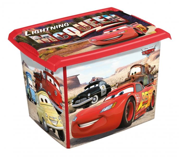 Keeeper Box na hračky Cars  20 l - červená