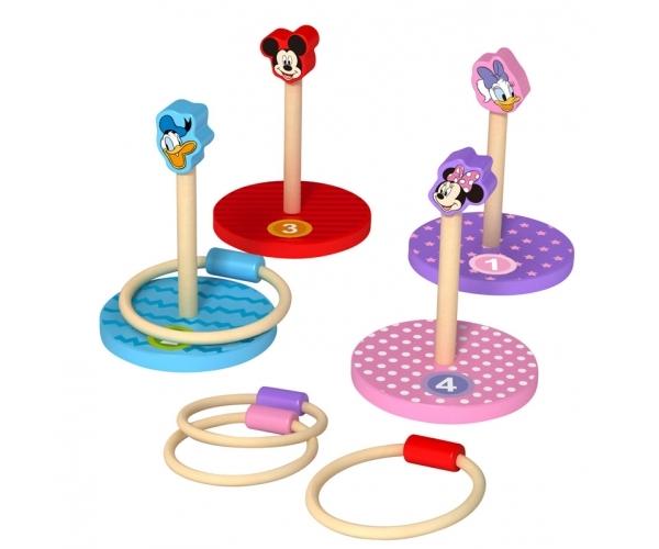 Dřevěné Disney házecí kroužky Mickey a přátelé, výška 26 cm
