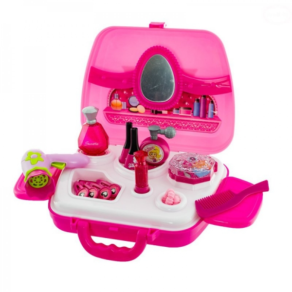 Euro Baby Dětský toaletní kufřík - růžový