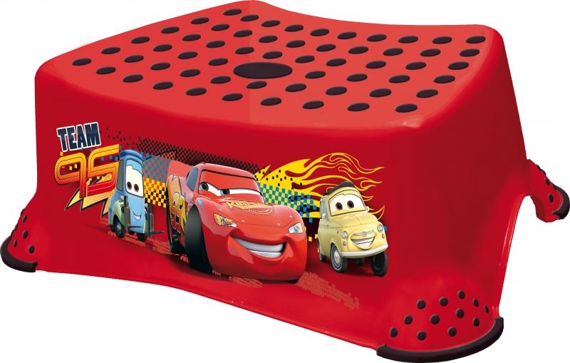 Keeeper Stolička, schůdek s protiskluzovou funkcí  - Cars II - červená