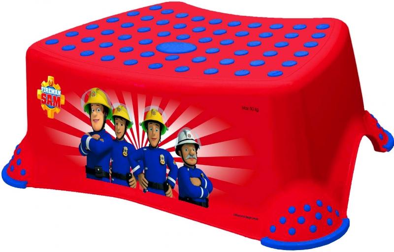 Keeeper Stolička, schůdek s protiskluzovou funkcí  - Fireman Sam - červená