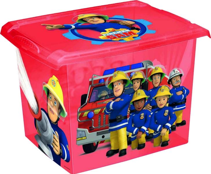 Keeeper Box na hračky Fireman Sam  20,5 l - červená