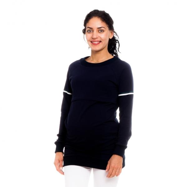 Be MaaMaa Těhotenské, kojící tričko/mikina Lynet, granátová