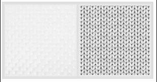 2-dílné bavlněné povlečení s minky Baby Nellys, Pletený cop - šedý, drobný vzor, 135x100cm