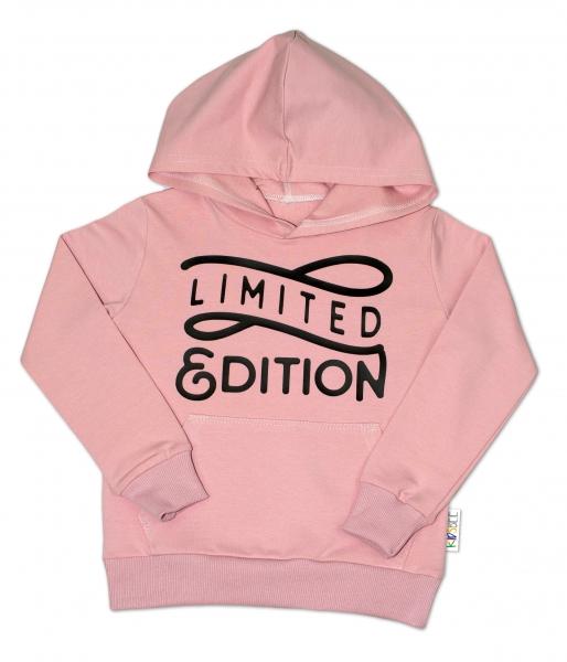 KIDSBEE Krásná dětská dívčí mikina s kapucí Limited Edition - růžová