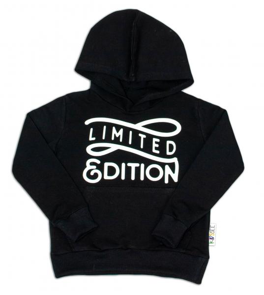 KIDSBEE Stylová dětská klučičí mikina s kapucí Limited Edition - černá