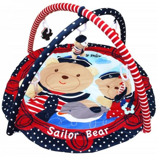 BABY MIX Vzdělávací hrací deka - Sailor Bear