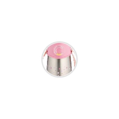 Canpol BabiesTermoláhev se silikonovou slámkou 300 ml - růžový