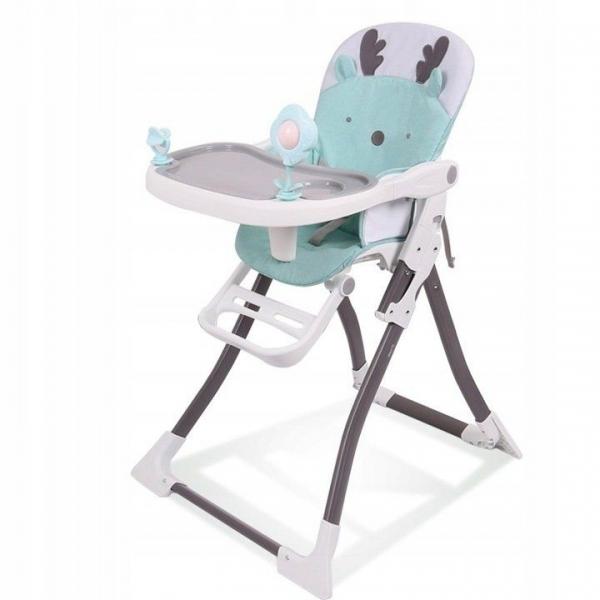 Eco toys Jídelní židlička - Sobík tyrkys