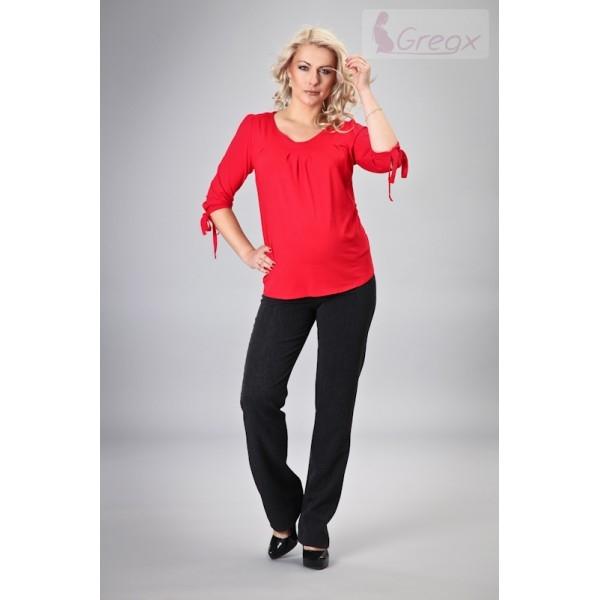 Gregx Elegantní kalhoty SAPO - černá