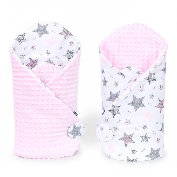 Mamo Tato Oboustranná zavinovačka Minky Baby - Starmix, růžová