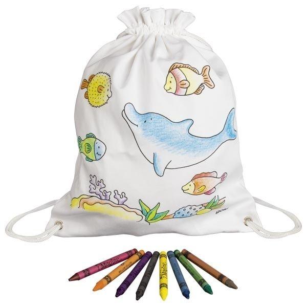 Goki Dětský bavlněný pytlík k vybarvení - Mořský svět