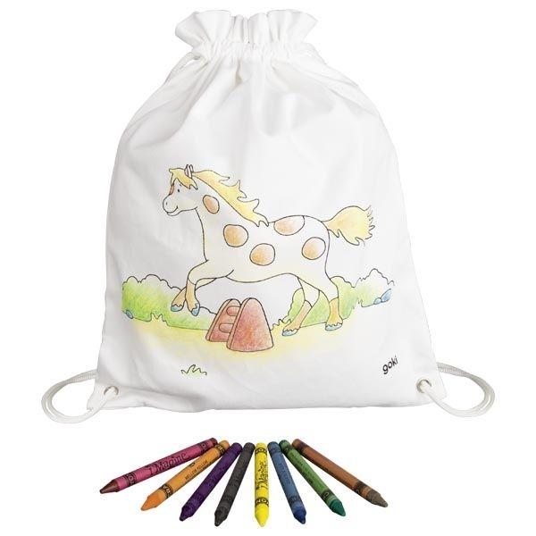Goki Dětský bavlněný pytlík k vybarvení - Koník