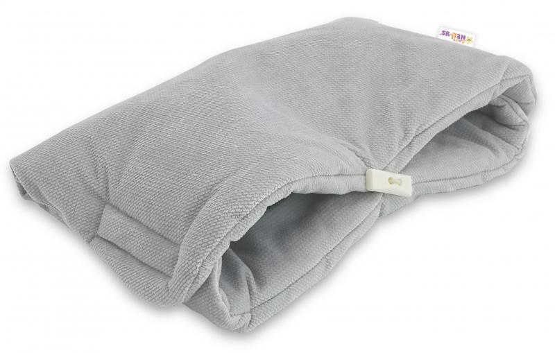 Luxusní rukávník Velvet Baby Nellys, 40 x 20cm - šedá