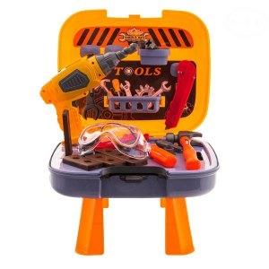 Euro Baby Dětská dílna s nářadím v pojízdném kufříku - 35 ks