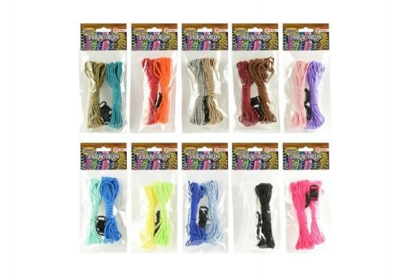 Vyrob si vlasní náramek parašňůra+přezky provázky asst 10 barev v sáčku