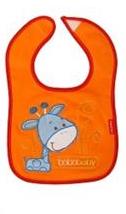Bobo Baby Třívrstvý bavlněný bryndáček Žirafka - oranžový