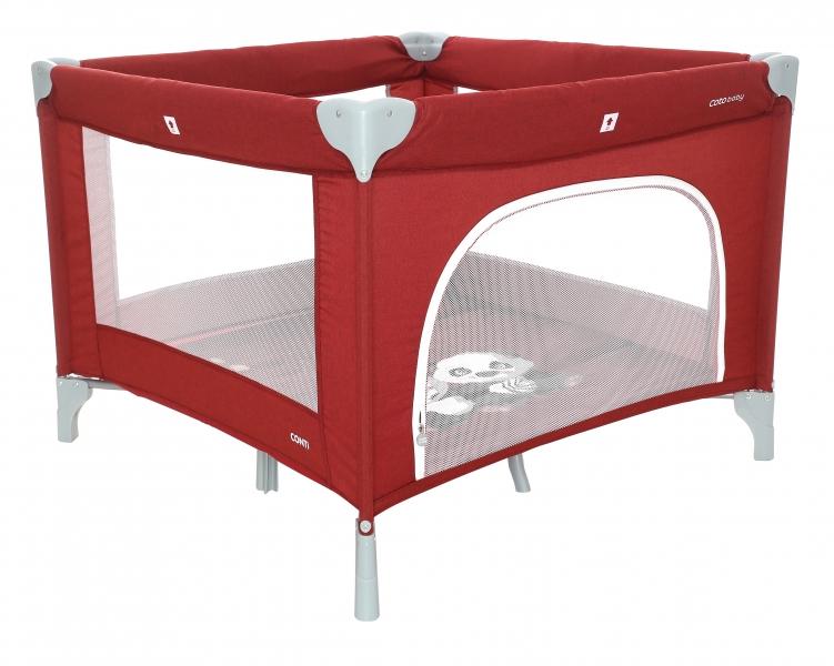 Coto Baby Skládací ohrádka Conti - red/melange - PANDA