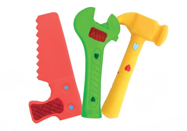 Hencz Toys Gumové nářadí do vany - 3 ks
