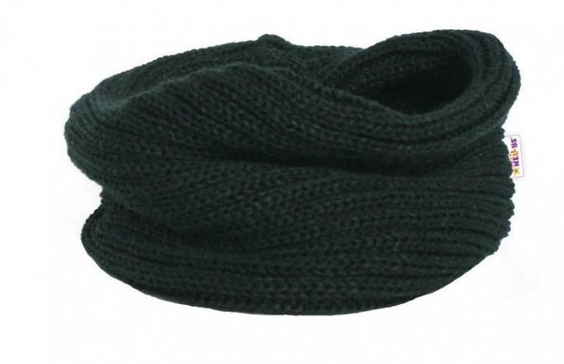 Pletený nákrčník/komínek Baby Nellys ® - černý