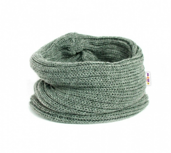 Pletený nákrčník/komínek Baby Nellys ® - šedý