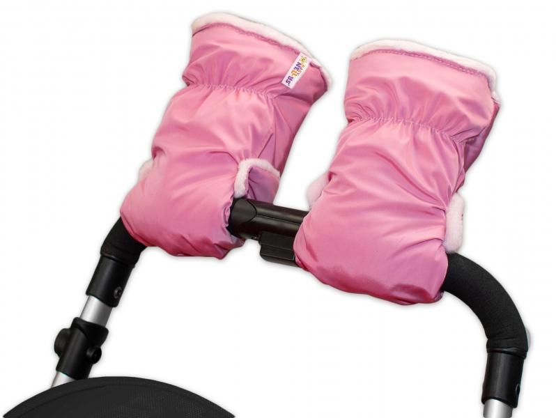 Rukávník ke kočárku Baby Nellys ® fleece - sv. růžový