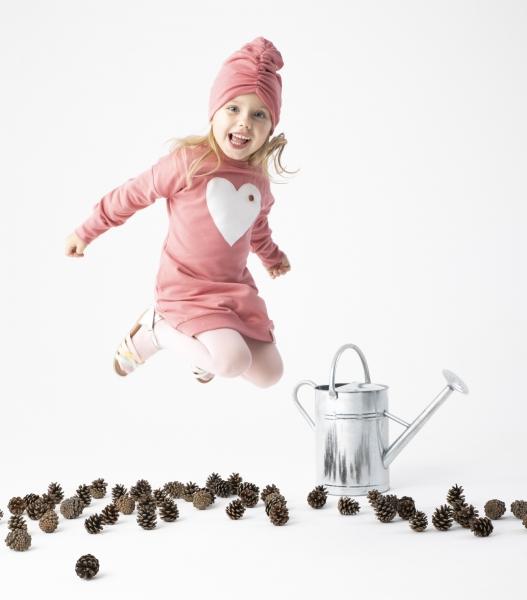 Dětské šaty Nicol, Forest - růžové, vel. 104