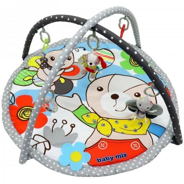 BABY MIX Vzdělávací hrací deka - Pejsek a motýl