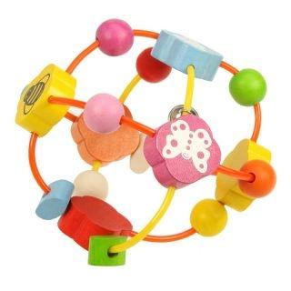 Bigjigs Edukační hračka - chrastítko - Elastická koule s korálky