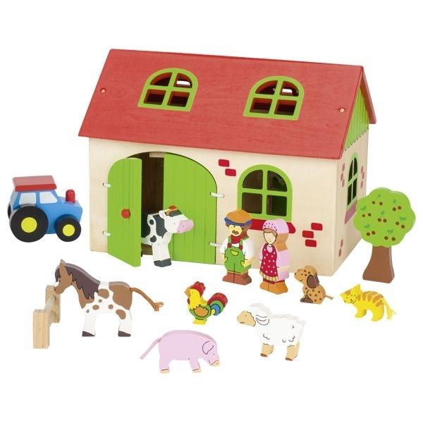 Goki Dřevěná edukační hračka Moje farma