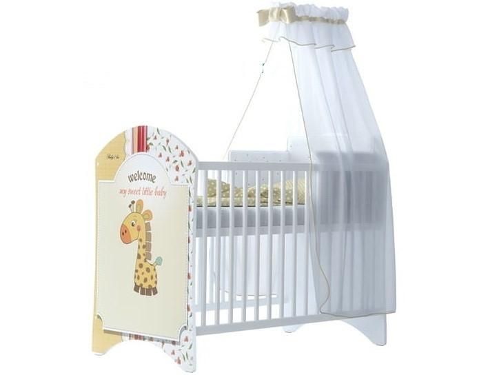 BabyBoo Dětská postýlka LUX s motivem Sweet giraffe, 120 x 60 cm