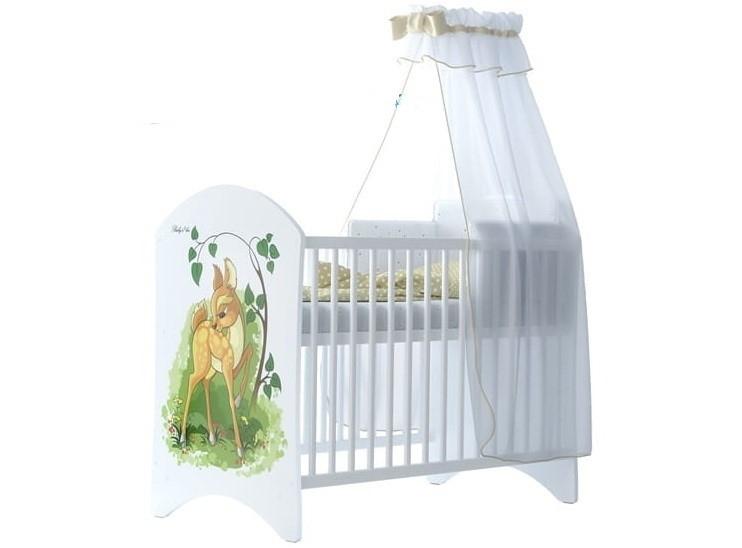BabyBoo Dětská postýlka LUX s motivem Bambi, 120 x 60 cm
