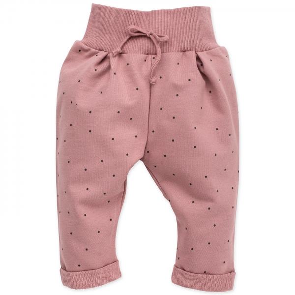 Pinokio Kojenecké tepláčky Petit Lou - pudrově růžová
