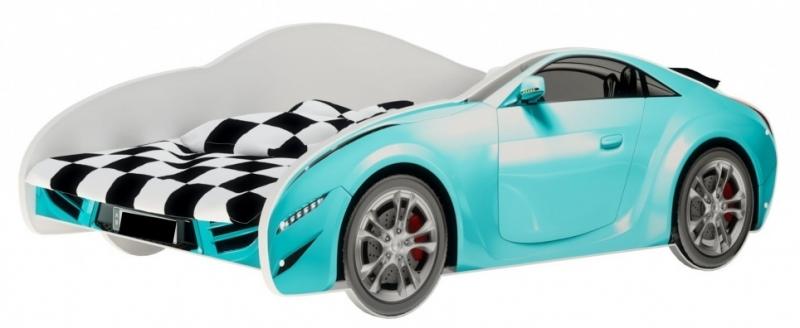 Nellys Dětská postel Super Car - modrá, 160 x 80 cm
