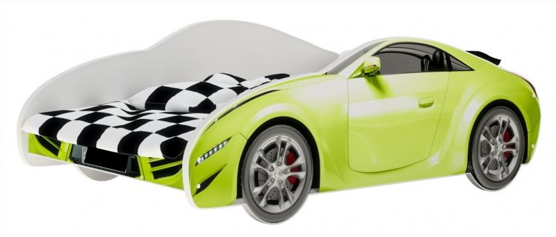 Nellys Dětská postel Super Car - zelená, 160 x 80 cm