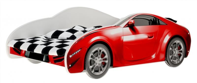 Nellys Dětská postel Super Car - červená, 160 x 80 cm
